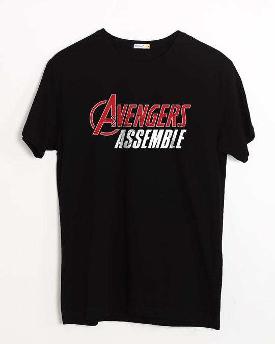 Shop Avengers Are Assembled Half Sleeve T-Shirt (AVEGL)-Front