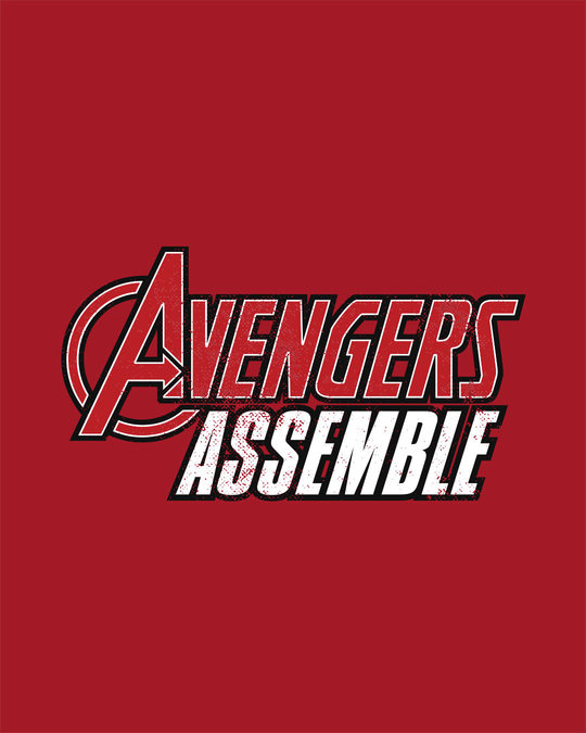 Shop Avengers Are Assembled Half Sleeve T-Shirt (AVEGL)