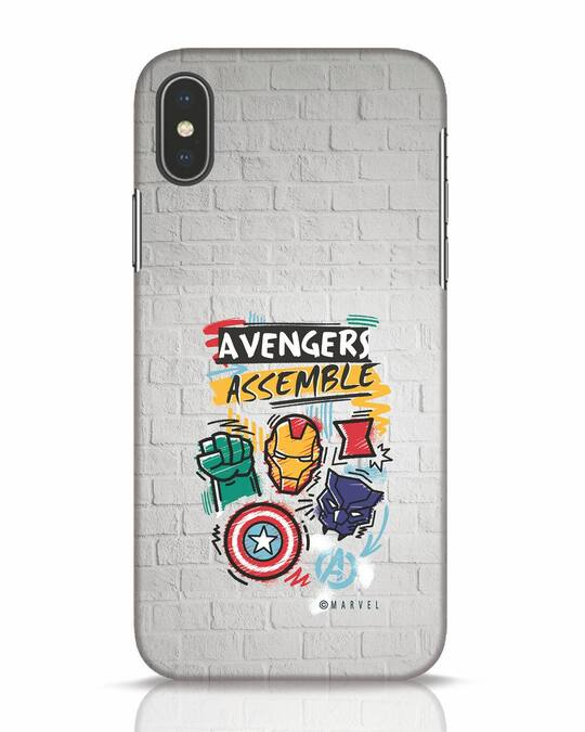 Shop Avengers Assemble iPhone X Mobile Cover (AVL)-Front