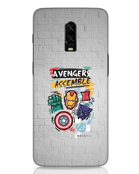Shop Avengers Assemble OnePlus 6T Mobile Cover (AVL)-Front