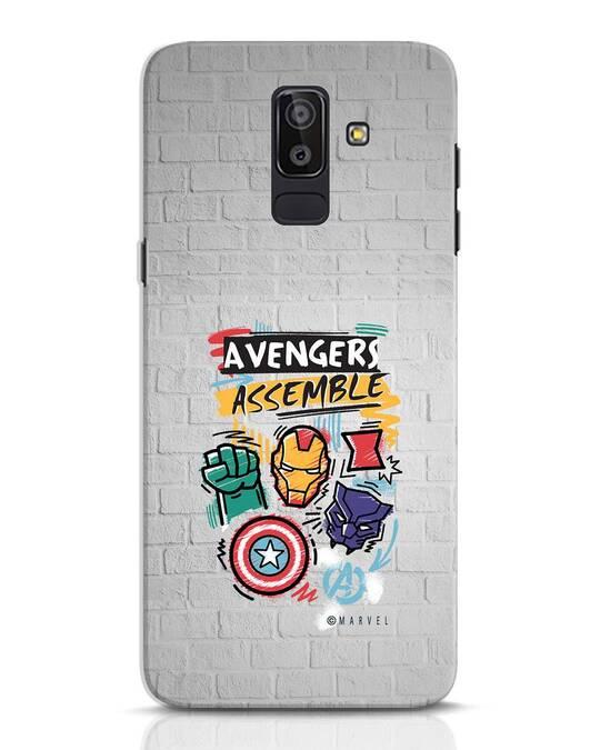 Shop Avengers Assemble Samsung Galaxy J8 Mobile Cover (AVL)-Front
