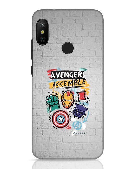 Shop Avengers Assemble Xiaomi Redmi 6 Pro Mobile Cover (AVL)-Front