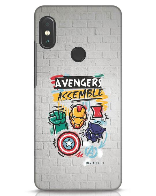 Shop Avengers Assemble Xiaomi Redmi Note 5 Pro Mobile Cover (AVL)-Front