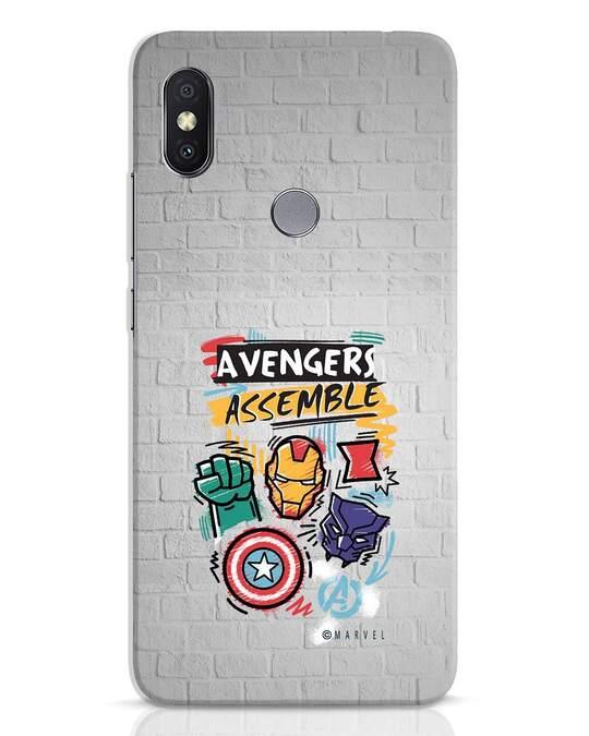 Shop Avengers Assemble Xiaomi Redmi Y2 Mobile Cover (AVL)-Front