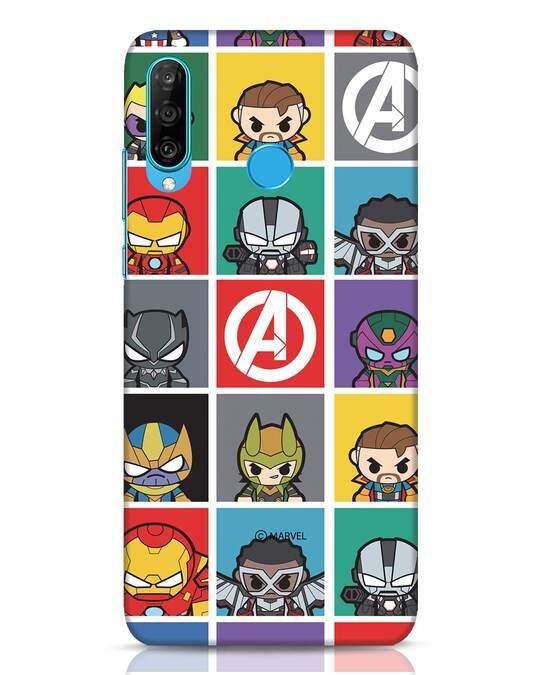 Shop Avengers Chibi Huawei P30 Lite Mobile Cover (AVL)-Front