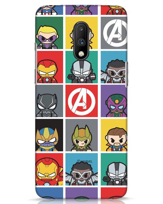 Shop Avengers Chibi OnePlus 7 Mobile Cover (AVL)-Front