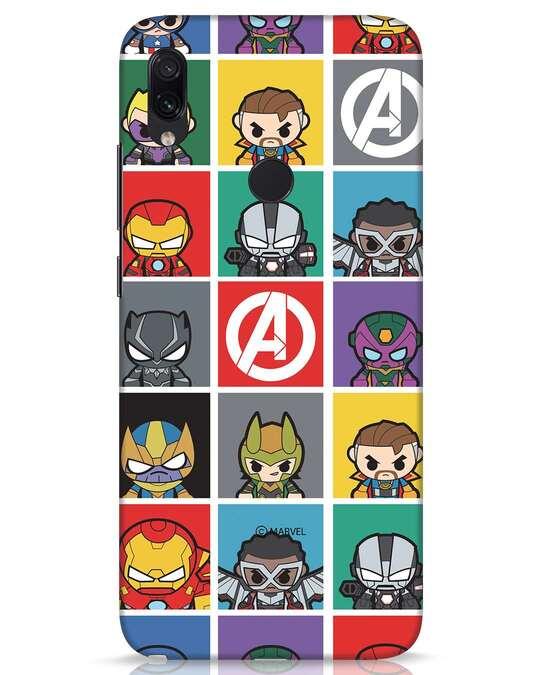 Shop Avengers Chibi Xiaomi Redmi Note 7s Mobile Cover (AVL)-Front