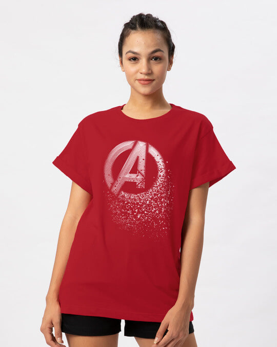 Shop Avengers Dispersion Boyfriend T-Shirt (AVL)-Front