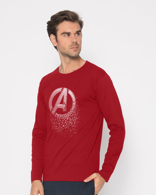 Shop Avengers Dispersion Full Sleeve T-Shirt (AVL)-Back