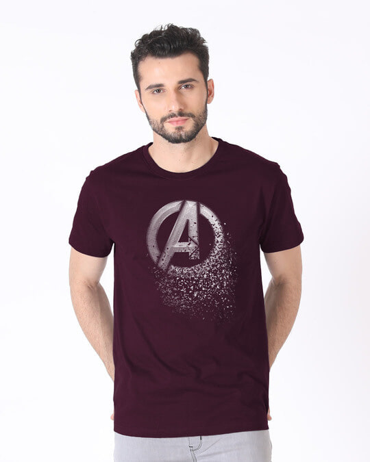 Shop Avengers Dispersion Half Sleeve T-Shirt (AVL)-Back
