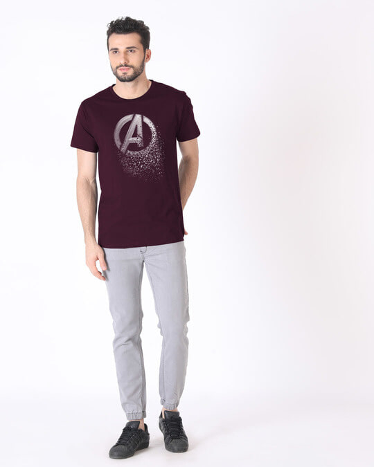 Shop Avengers Dispersion Half Sleeve T-Shirt (AVL)