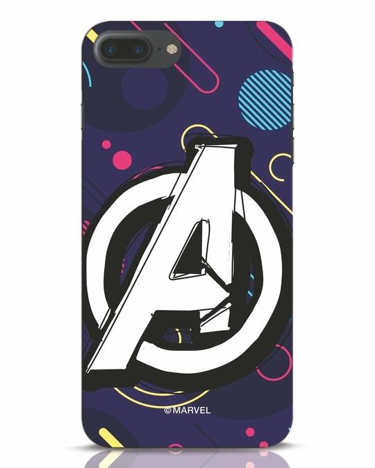 Shop Avengers Doodle iPhone 7 Plus Mobile Cover (AVL)-Front