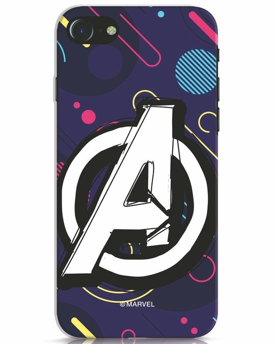 Shop Avengers Doodle iPhone 8 Mobile Cover (AVL)-Front