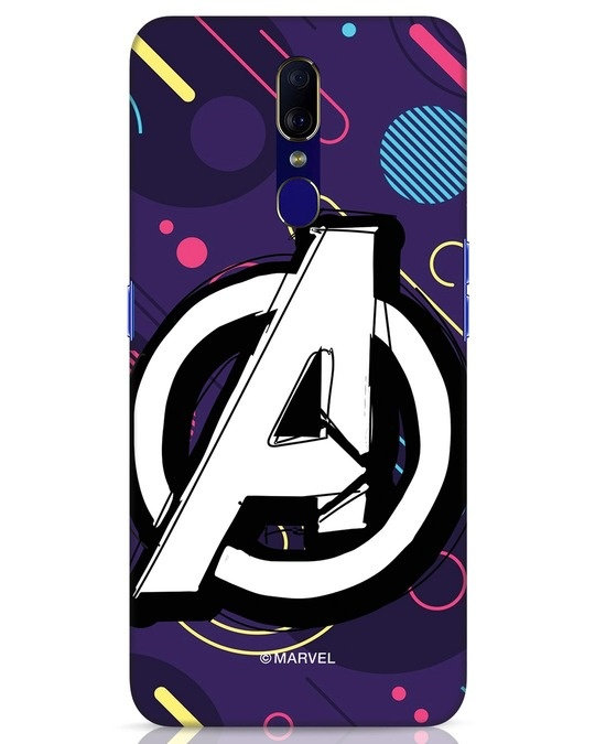 Shop Avengers Doodle Oppo F11 Mobile Cover (AVL)-Front