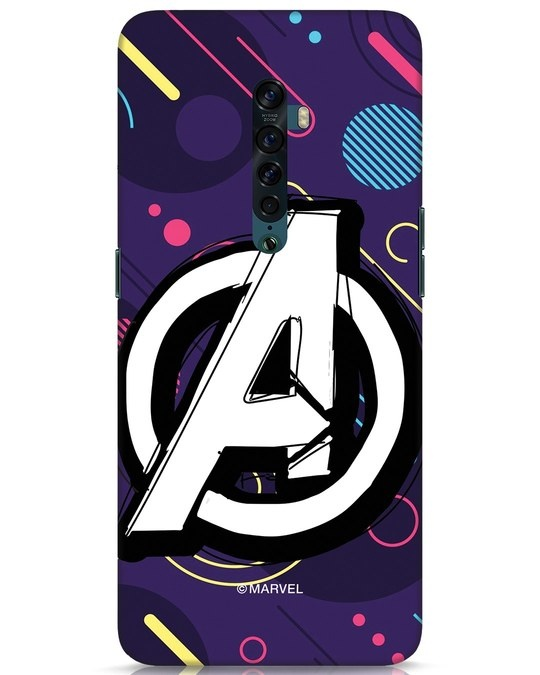 Shop Avengers Doodle Oppo Reno 2 Mobile Cover (AVL)-Front