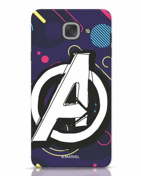 Shop Avengers Doodle Samsung Galaxy J7 Max Mobile Cover (AVL)-Front