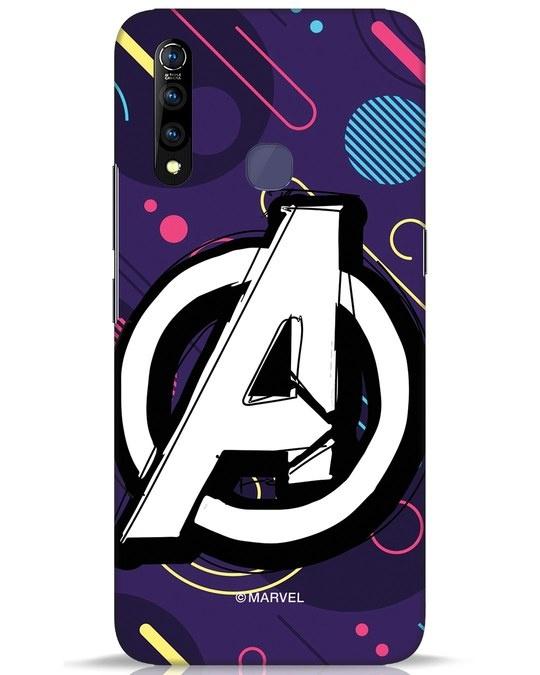 Shop Avengers Doodle Vivo Z1 Pro Mobile Cover (AVL)-Front