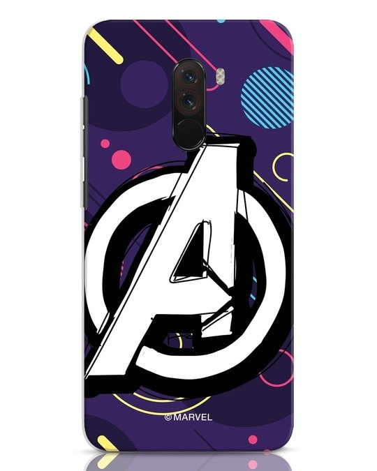 Shop Avengers Doodle Xiaomi POCO F1 Mobile Cover (AVL)-Front