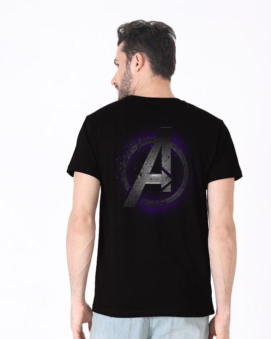 Shop Avengers Endgame Back Print Half Sleeve T-Shirt (AVL)-Front