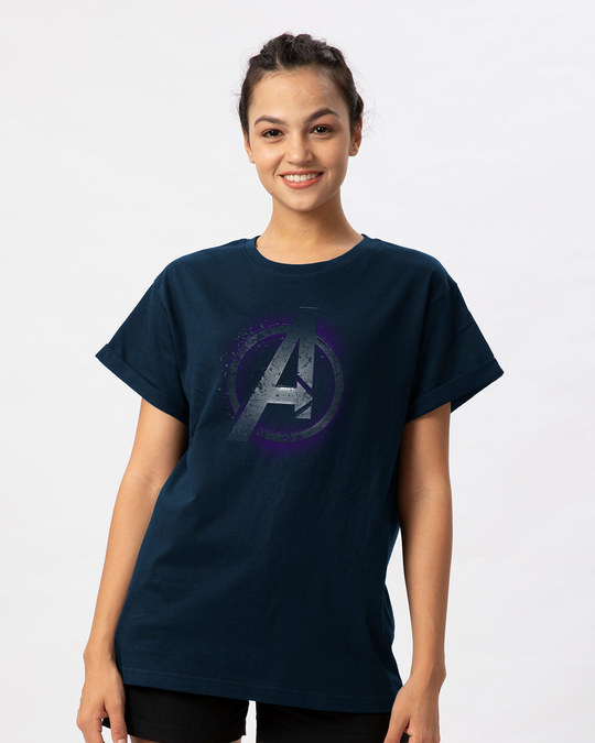 Shop Avengers Endgame Boyfriend T-Shirt (AVL)-Front