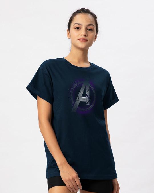 Shop Avengers Endgame Boyfriend T-Shirt (AVL)-Back