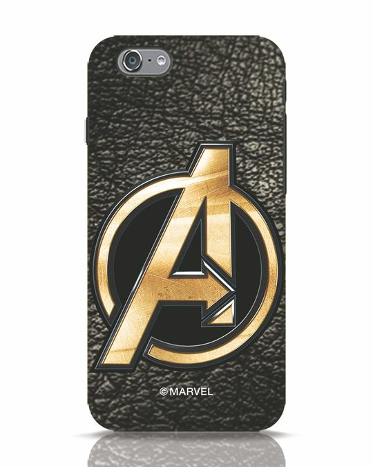 Shop Avengers Gold Logo iPhone 6 Mobile Cover-Front