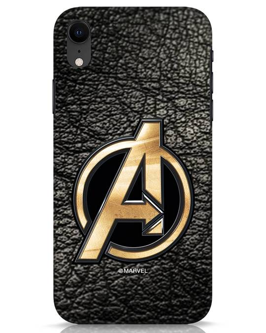 Shop Avengers Gold Logo iPhone XR Mobile Cover-Front