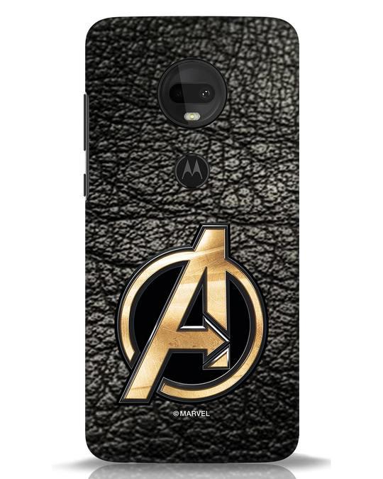 Shop Avengers Gold Logo Moto G7 Mobile Cover-Front