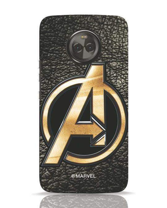 Shop Avengers Gold Logo Moto X4 Mobile Cover-Front