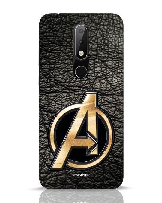 Shop Avengers Gold Logo Nokia 6.1 Plus Mobile Cover-Front