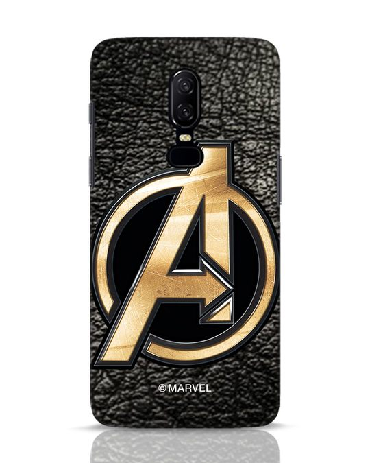 Shop Avengers Gold Logo OnePlus 6 Mobile Cover-Front