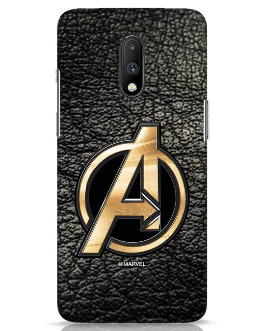Shop Avengers Gold Logo OnePlus 7 Mobile Cover-Front