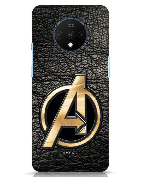 Shop Avengers Gold Logo OnePlus 7T Mobile Cover-Front