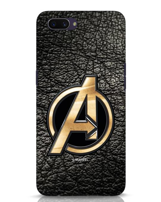 Shop Avengers Gold Logo Oppo A3S Mobile Cover-Front