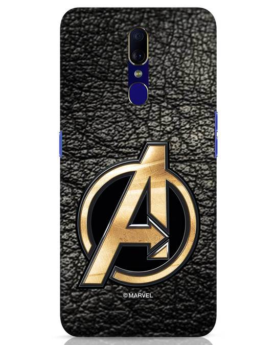 Shop Avengers Gold Logo Oppo F11 Mobile Cover-Front