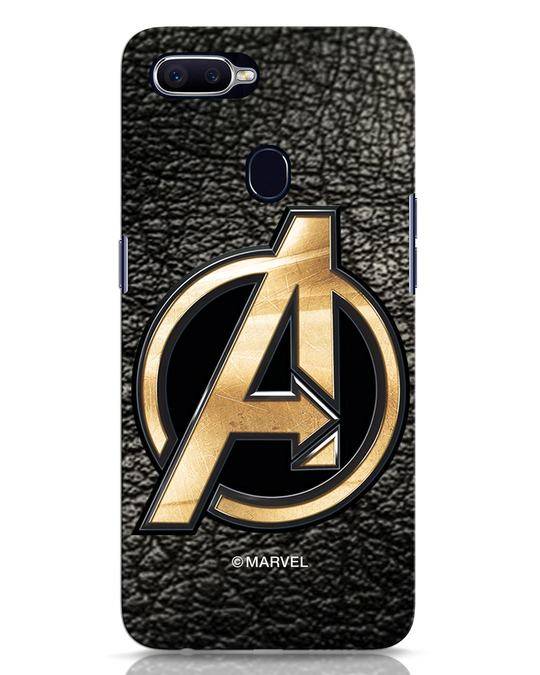 Shop Avengers Gold Logo Oppo F9 Pro Mobile Cover-Front