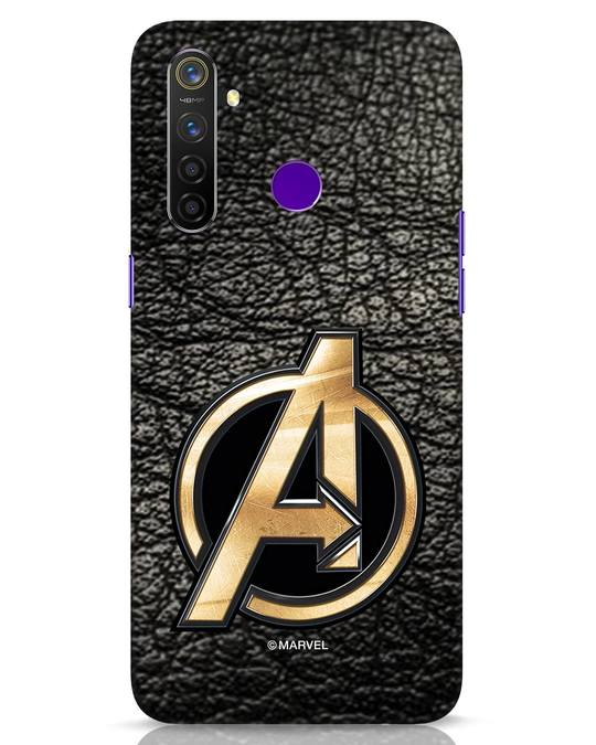 Shop Avengers Gold Logo Realme 5 Pro Mobile Cover-Front