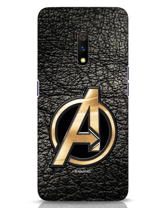 Shop Avengers Gold Logo Realme X Mobile Cover-Front