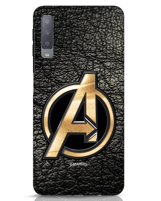 Shop Avengers Gold Logo Samsung Galaxy A7 Mobile Cover-Front