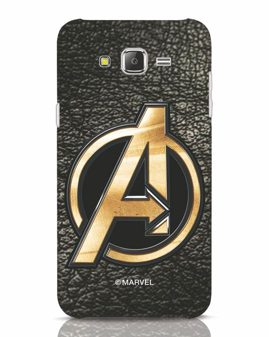 Shop Avengers Gold Logo Samsung Galaxy J7 Mobile Cover-Front