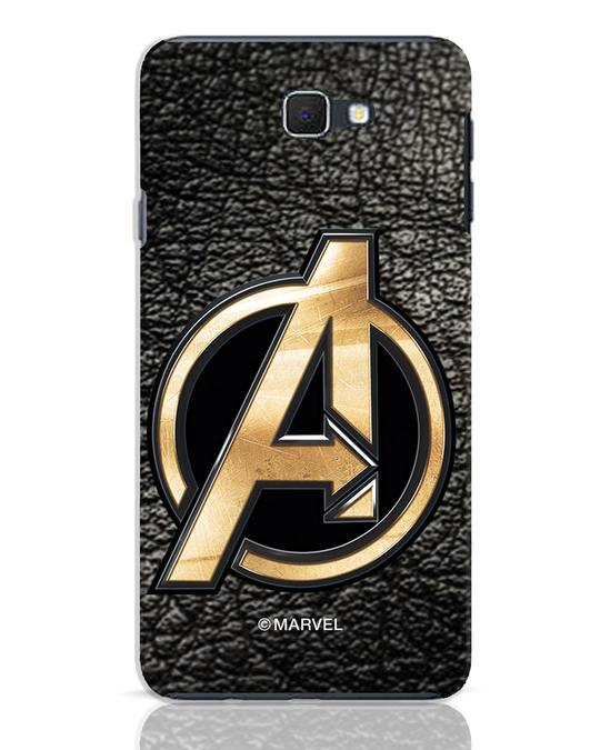 Shop Avengers Gold Logo Samsung Galaxy J7 Prime Mobile Cover-Front