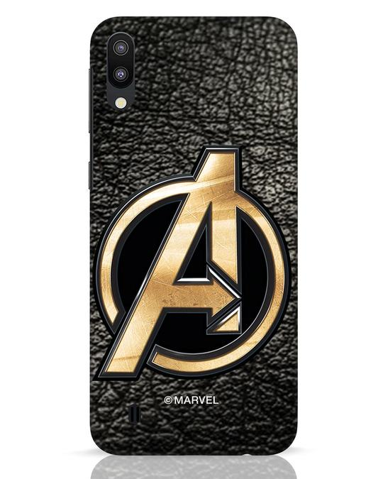 Shop Avengers Gold Logo Samsung Galaxy M10 Mobile Cover-Front