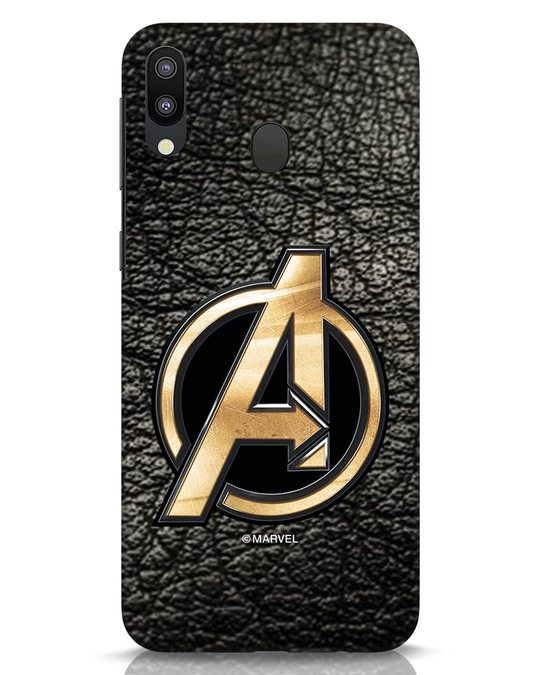 Shop Avengers Gold Logo Samsung Galaxy M20 Mobile Cover-Front