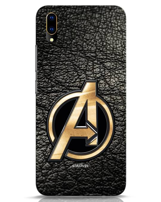 Shop Avengers Gold Logo Vivo V11 Pro Mobile Cover-Front