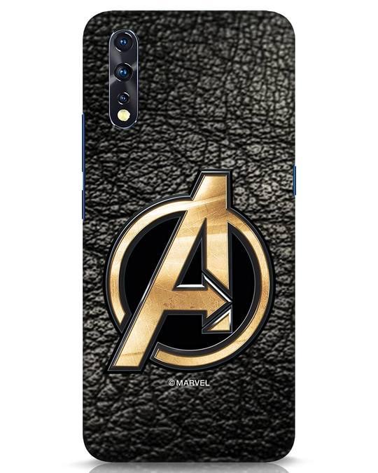 Shop Avengers Gold Logo Vivo Z1x Mobile Cover-Front