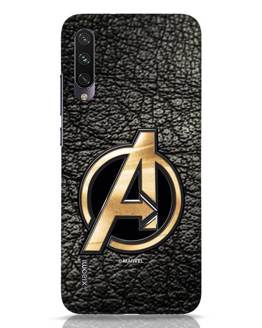 Shop Avengers Gold Logo Xiaomi Mi A3 Mobile Cover-Front