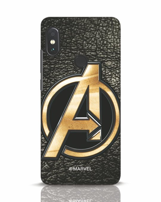 Shop Avengers Gold Logo Xiaomi Redmi Note 5 Pro Mobile Cover-Front