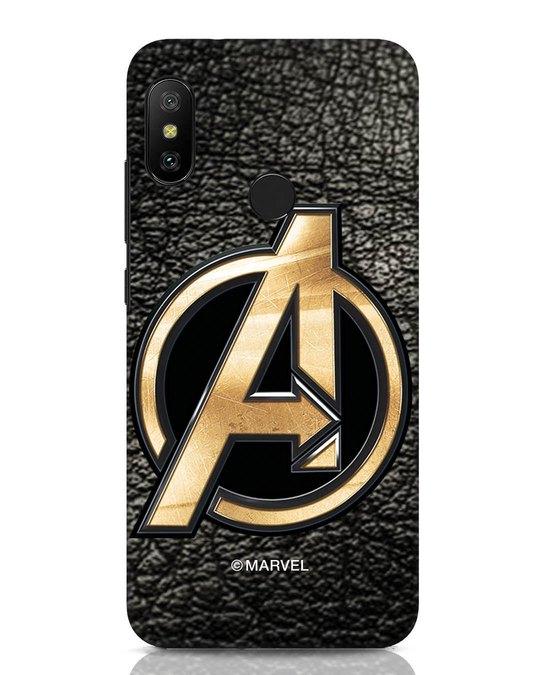 Shop Avengers Gold Logo Xiaomi Redmi Note 6 Pro Mobile Cover-Front