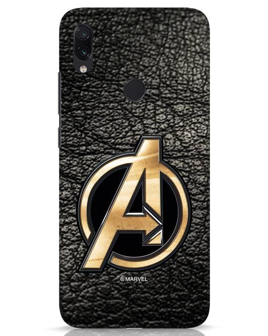 Shop Avengers Gold Logo Xiaomi Redmi Note 7s Mobile Cover-Front