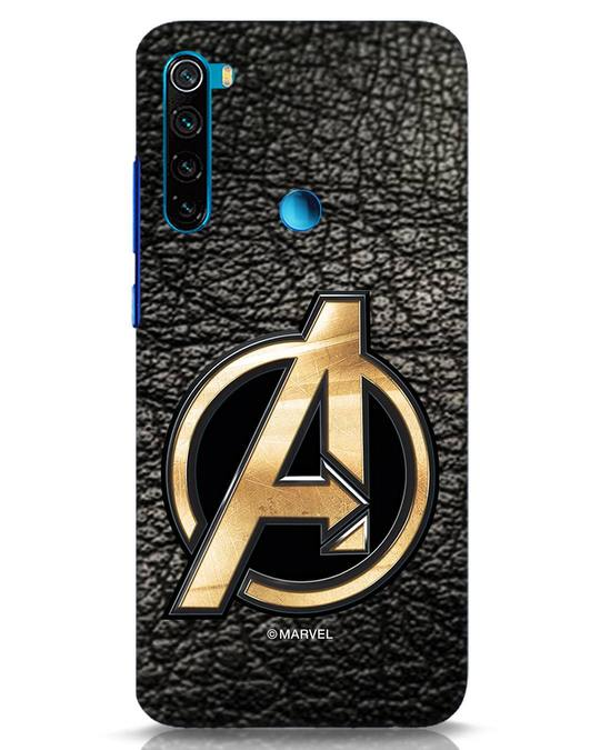 Shop Avengers Gold Logo Xiaomi Redmi Note 8 Mobile Cover-Front